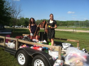 Re-use, re-cycle trailer at Bethel